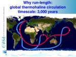 why run length global thermohaline circulation timescale 3 000 years
