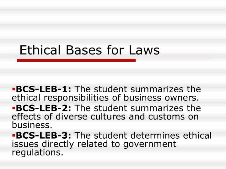 ethical bases for laws n.