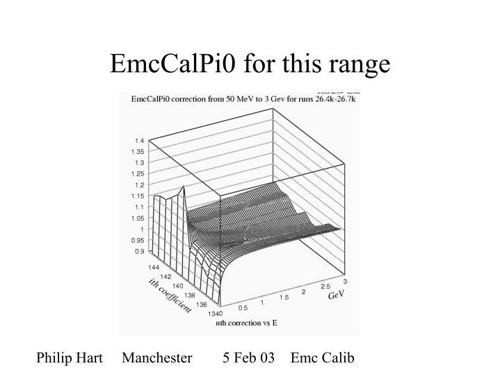 EmcCalPi0 for this range