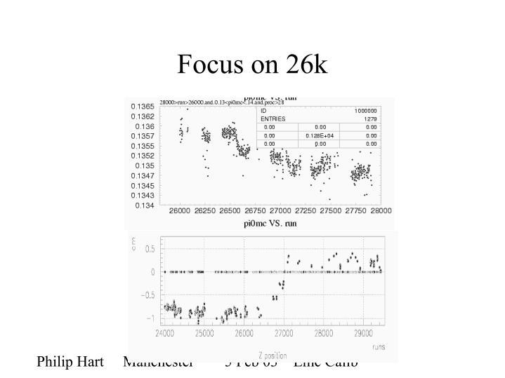 Focus on 26k