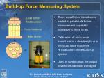 build up force measuring system