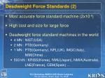 deadweight force standards 2