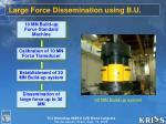 large force dissemination using b u