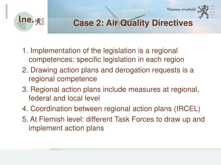 Case 2: Air Quality Directives