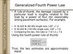 generalized fourth power law