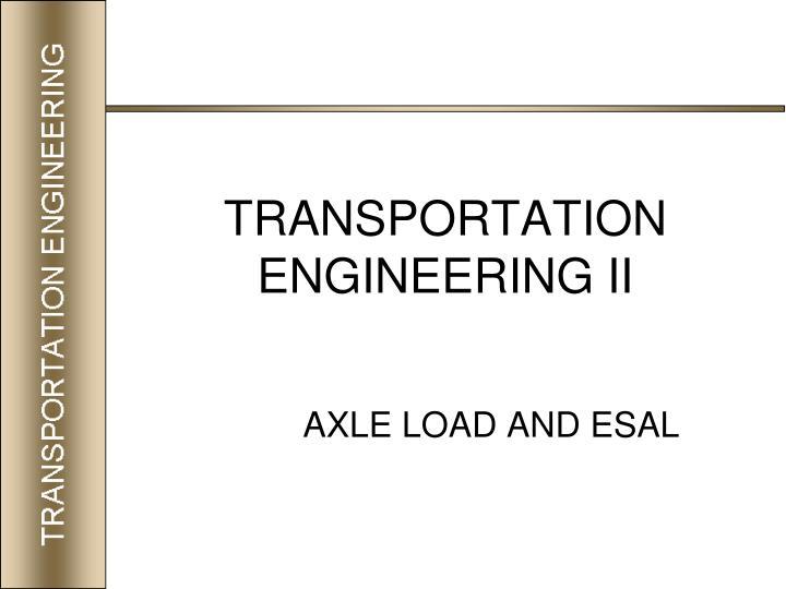 transportation engineering ii n.