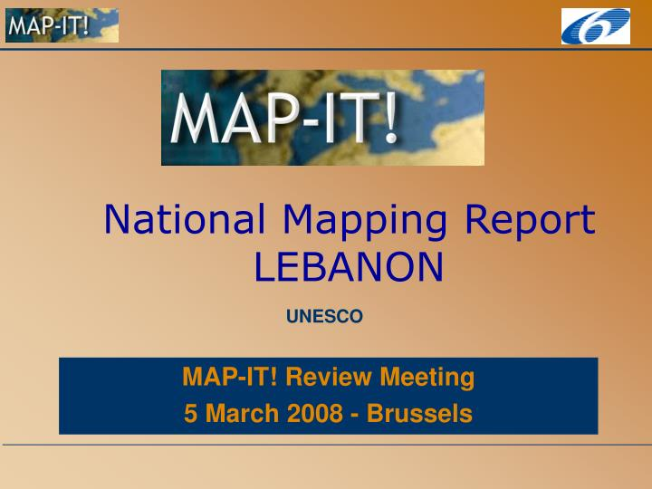 National mapping report lebanon