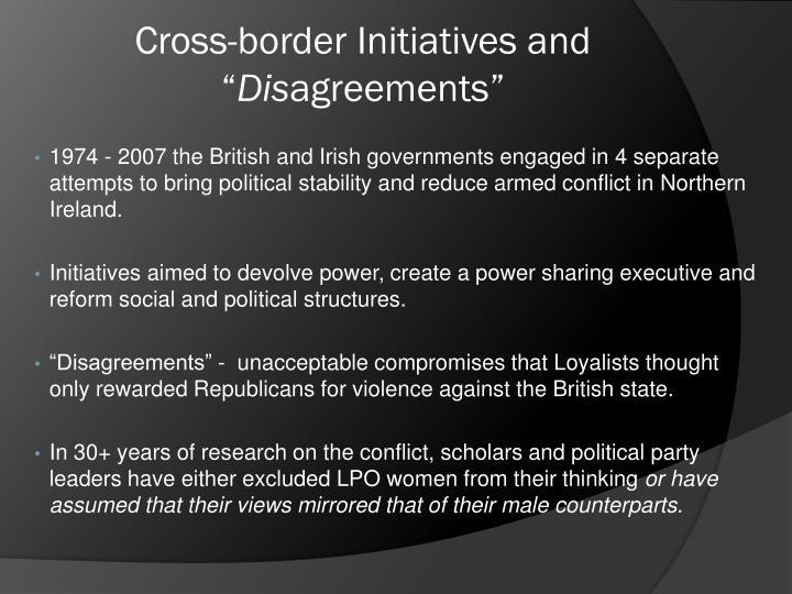 """Cross-border Initiatives and """""""