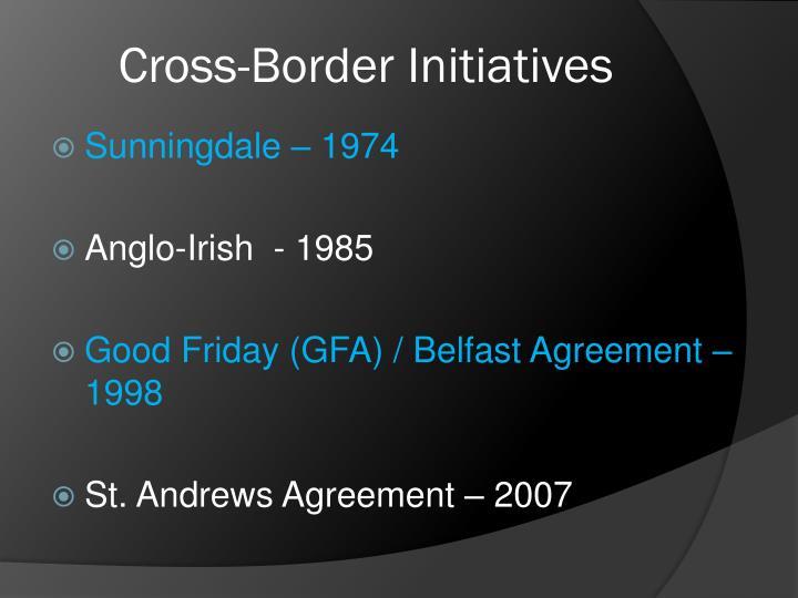 Cross-Border Initiatives