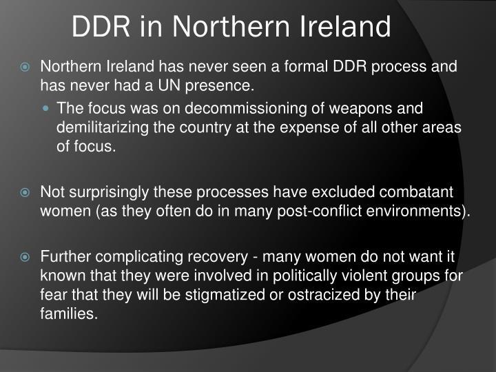 DDR in Northern Ireland