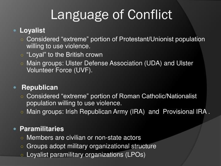 Language of Conflict
