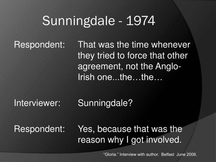 Sunningdale - 1974