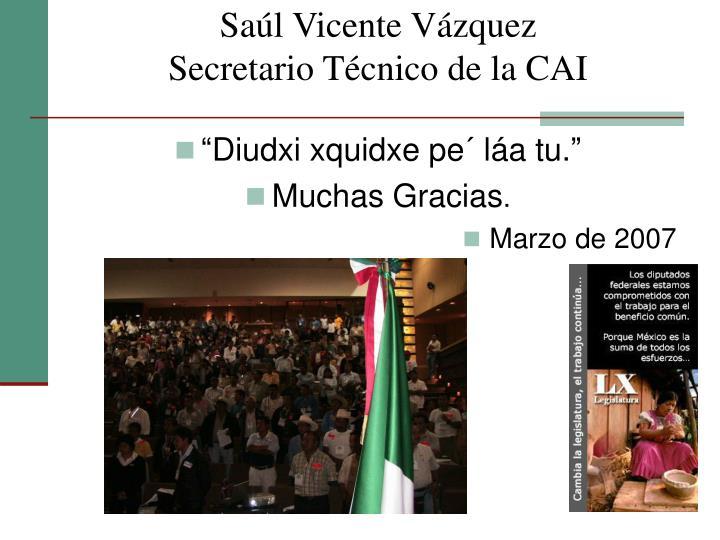 Saúl Vicente Vázquez
