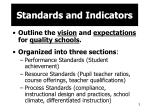 standards and indicators