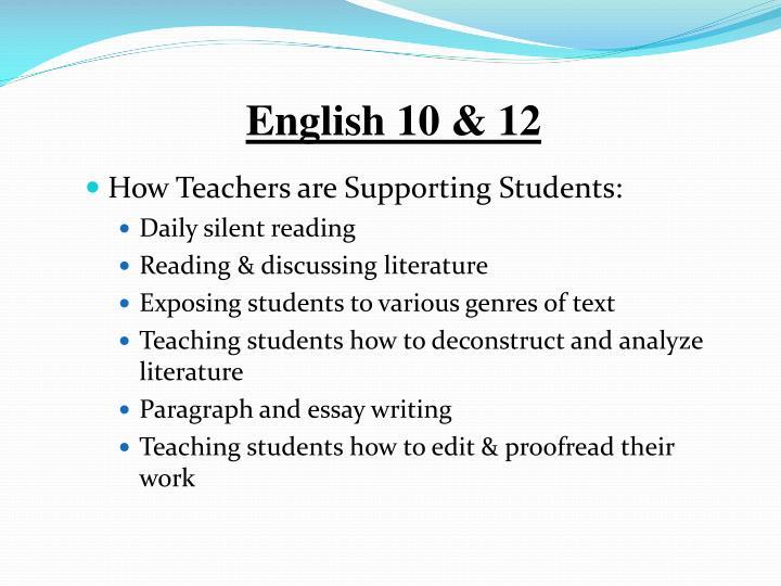 English 10 & 12
