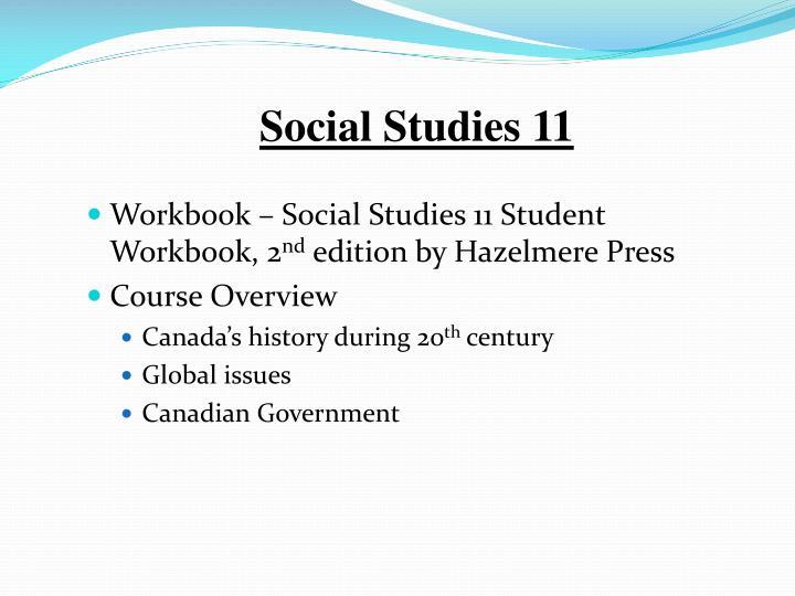 Social Studies 11