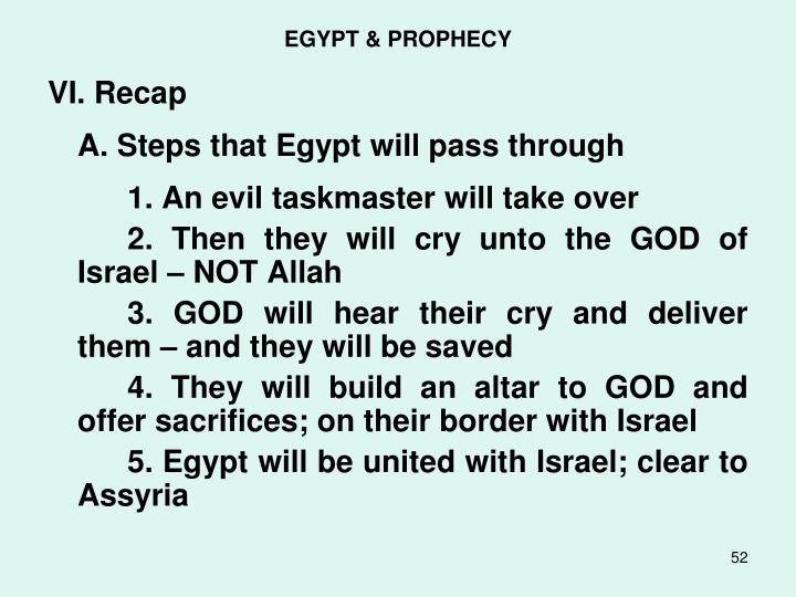 EGYPT & PROPHECY