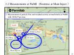 3 2 measurements at numi neutrino at main inject