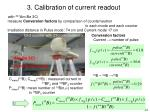 3 calibration of current readout