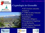 cryptologie in grenoble