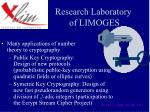 research laboratory of limoges
