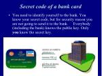 secret code of a bank card1