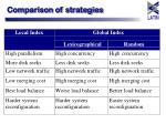 comparison of strategies