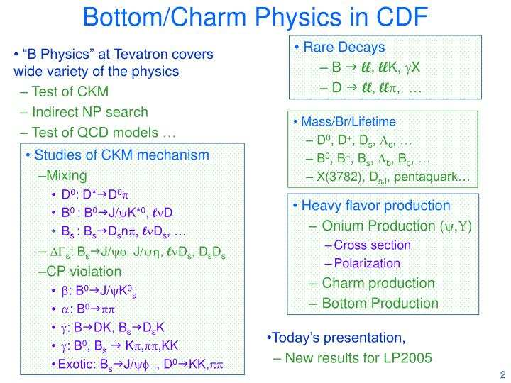 Bottom charm physics in cdf