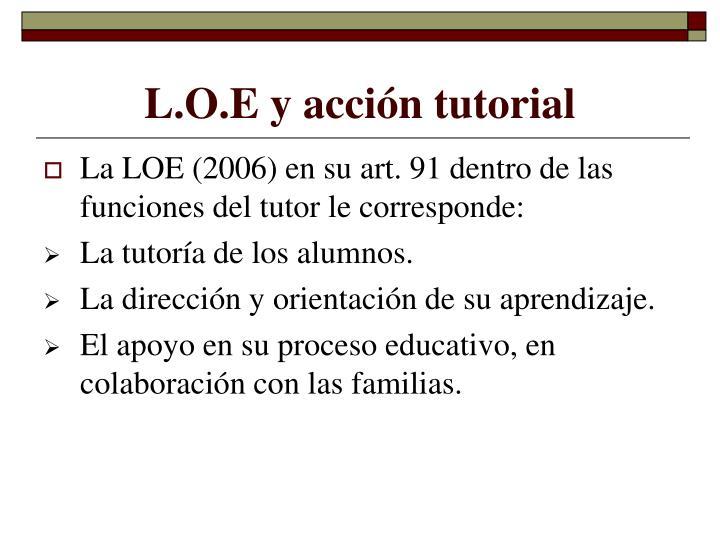 L.O.E y acción tutorial