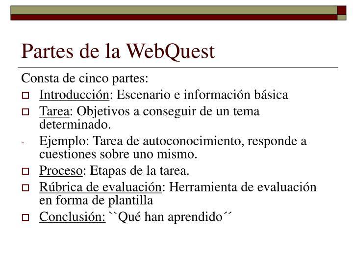 Partes de la WebQuest