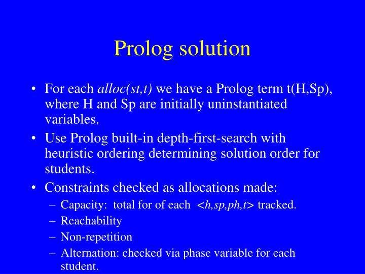Prolog solution