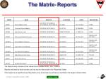 the matrix reports