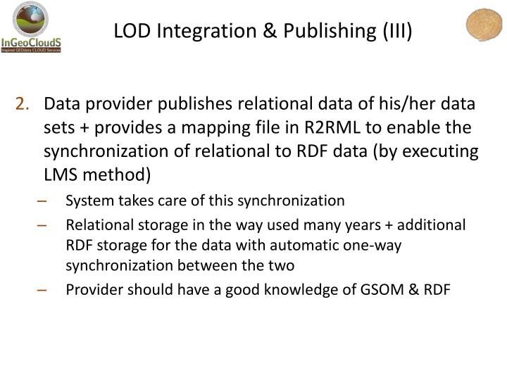 LOD Integration & Publishing (III)