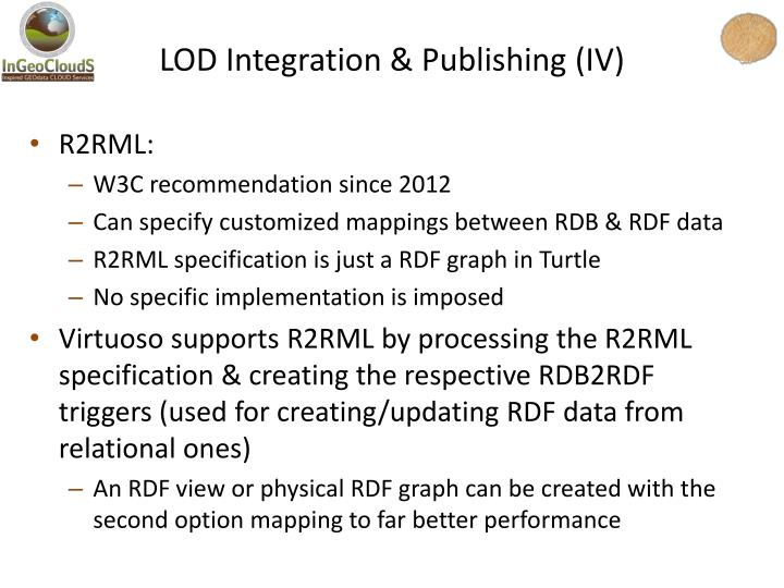 LOD Integration & Publishing (IV)