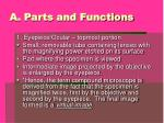 a parts and functions