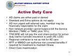 active duty care