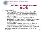 ad out of region care con t