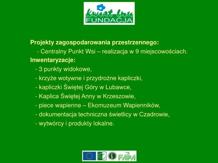 Projekty zagospodarowania przestrzennego: