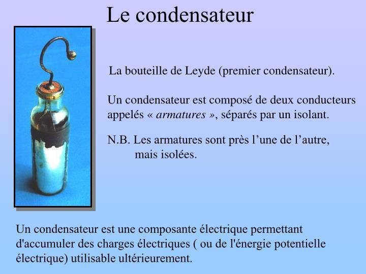 Le condensateur