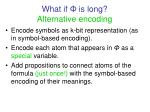 what if is long alternative encoding