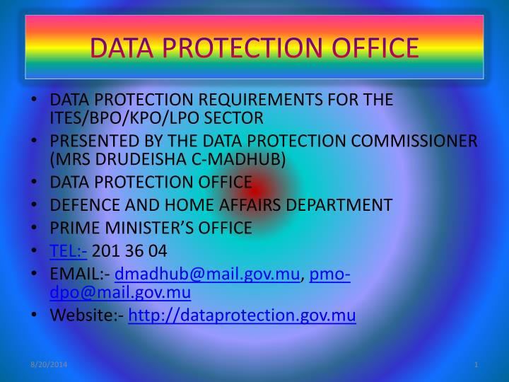 data protection office n.