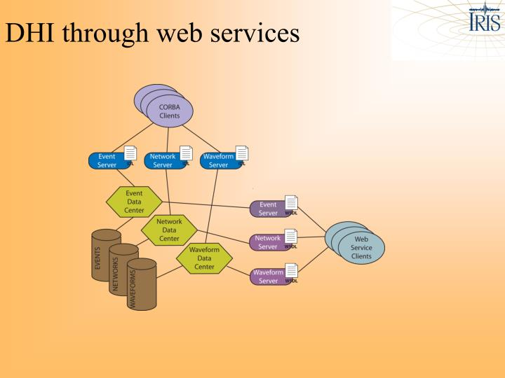 DHI through web services