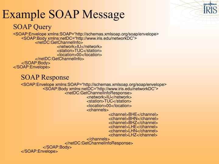 Example SOAP Message
