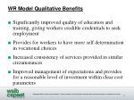 wr model qualitative benefits1