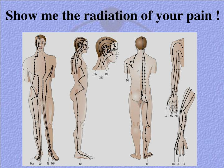 Show me the radiation of your pain !