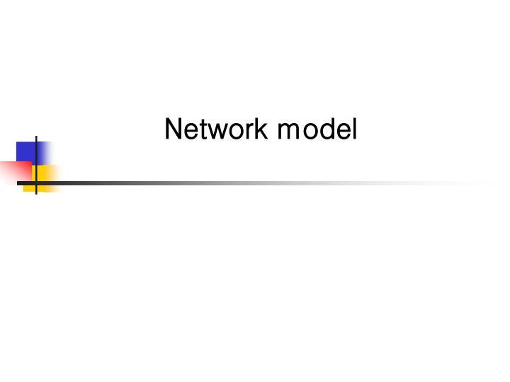 network model n.