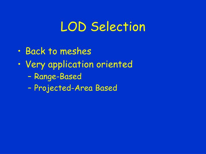 LOD Selection