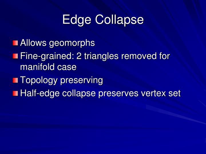 Edge Collapse