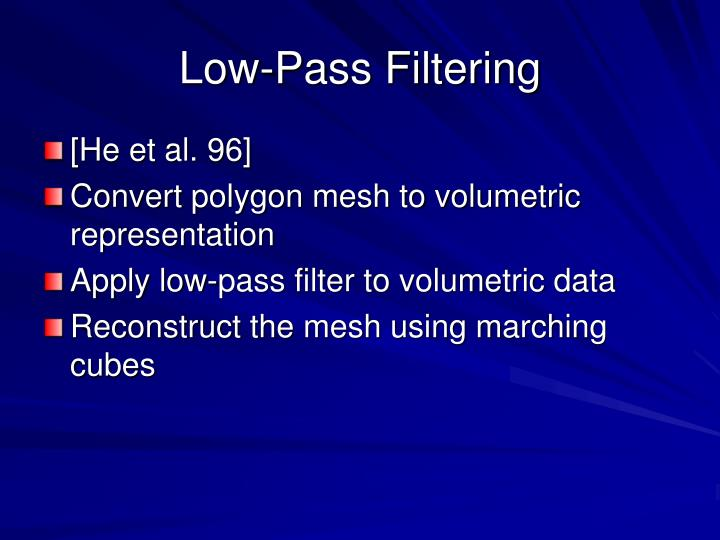 Low-Pass Filtering