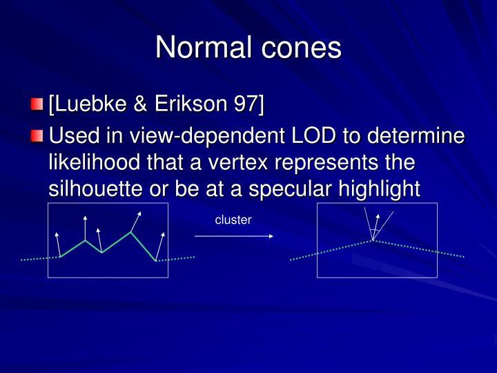 Normal cones